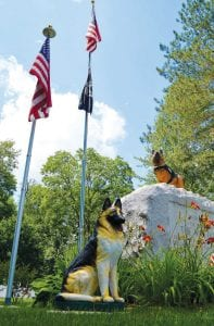 The Michigan War Dog Memorial in South Lyon provides interment of retired military working dogs and retired service dogs.